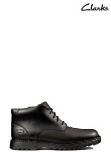 Clarks Black Asher Walk Y Boots