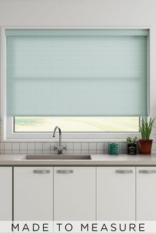 Mae Sky Blue Made To Measure Roller Blind