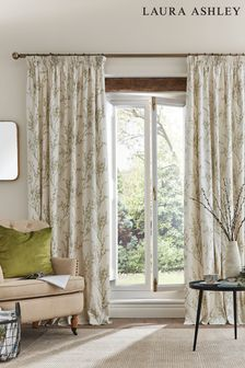 Laura Ashley Hedgerow Pussy Willow Pencil Pleat Curtains