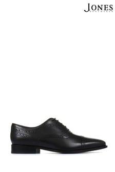 Jones Bootmaker Black Joseph Leather Oxford Men's Semi-Brogues