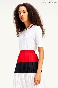 Tommy Hilfiger White Global Stripe Polo