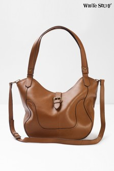 White Stuff Tan Bonnie Leather Hobo Bag