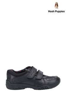 Hush Puppies Black Jezza 2 Senior School Shoes