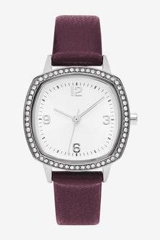 Sparkle Square Case Watch