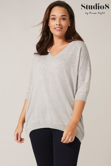 Studio 8 Grey Elisha Layering Knit Top