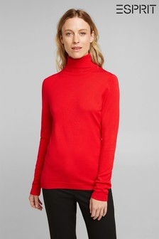 Esprit Red Roll Neck Sweater