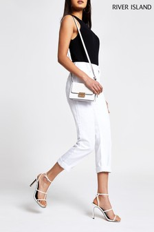 River Island White Mom Jean