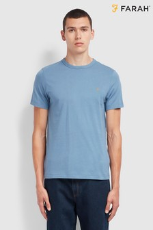 Farah Blue Danny Short Sleeved 100th Anniversary T-Shirt