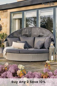 Pacific Barbados Slate Grey Day Bed