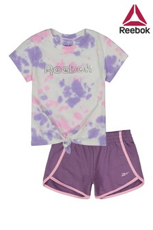 Reebok Infants Purple Tie Dye T-Shirt And Legging Set