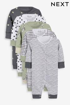 5 Pack Printed Sleepsuits (0-3yrs)