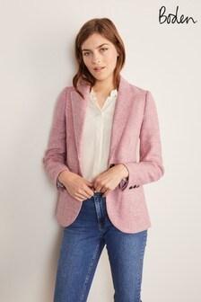 Boden Pink Atkins British Tweed Blazer