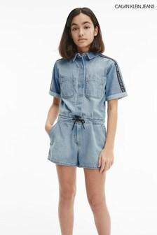 Calvin Klein Jeans Blue Denim Playsuit