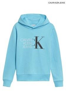 Calvin Klein Jeans Blue Hybrid Logo Hoodie