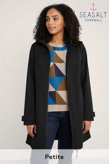 Seasalt Cornwall Petite Black Coverack Coat