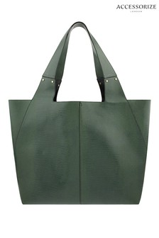 Accessorize Green Shopper Bag