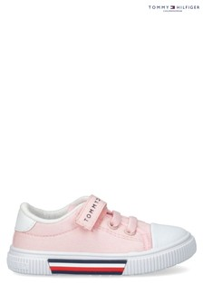 Tommy Hilfiger Pink Velcro and Laced Trainers