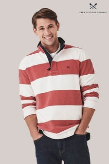 Crew Clothing Red Wide Stripe Padstow Sweatshirt