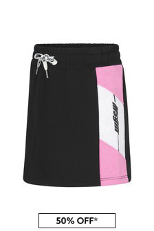 MSGM Girls Black Cotton Skirt