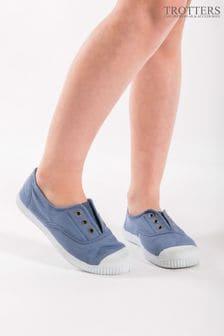 Trotters London Plum Canvas Shoes