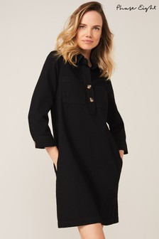 Phase Eight Black Kirsty Denim Dress