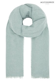 Accessorize Blue Wells Supersoft Blanket Scarf