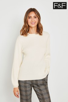 F&F Ivory Balloon Sleeve Jumper