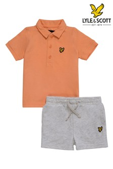 Lyle & Scott Boys Tipped Polo And Shorts Set