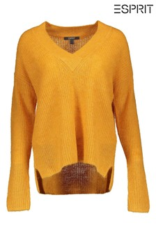 Esprit Yellow V-Neck Sweater