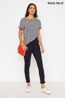 White Stuff Navy Jodie Ponte Jeggings