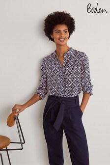 Boden Blue Silk Shirt