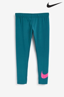 Nike Teal Swoosh Leggings