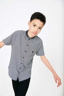 Gingham Baseball Shirt (3-16yrs)