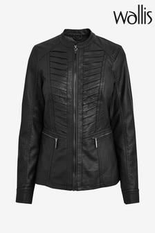 Wallis Grey Pleat Front Gothic Jacket