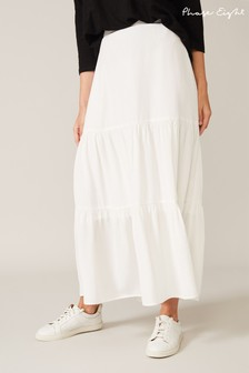 Phase Eight White Aspenne Maxi Skirt