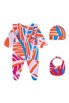 Emilio Pucci Baby Orange Cotton Gift Set