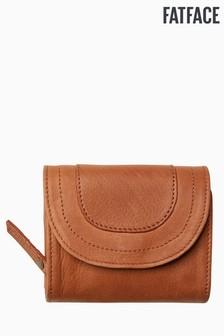 FatFace Brown Hetti Stitch Detail Purse