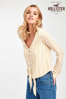 Hollister Yellow Stripe Blouse