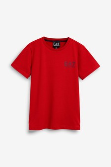 EA7 Red Logo T-Shirt