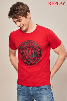 Replay® Red Circle Logo T-Shirt