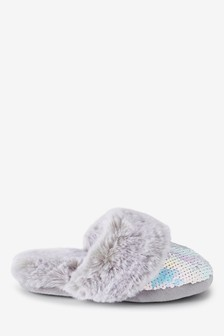 Faux Fur Mule Slippers (Older)