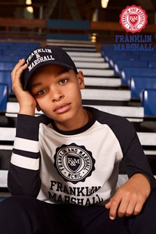 Franklin & Marshall Crest Raglan Layer T-Shirt