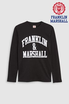 Franklin & Marshall Long Sleeve Logo T-Shirt