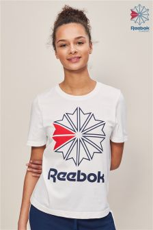 Reebok White Graphic Tee