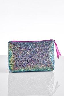 Purple Glitter Cosmetic Bag