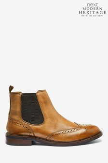 Modern Heritage Brogue Chelsea Boots