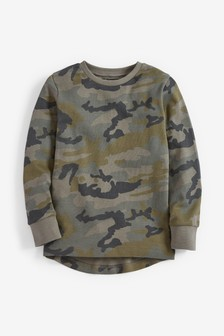 Textured Camouflage Long Sleeve T-Shirt (3-16yrs)