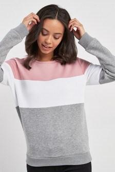 Colourblock Crew Neck Sweater