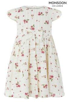 Monsoon Ivory Baby Pandora Print Dress