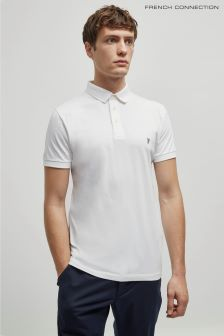 French Connection White/Marine Basic Sneezy Polo